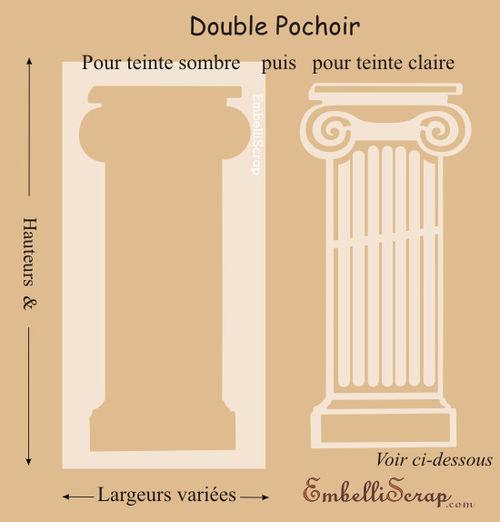 Colonne grecque de diff rentes tailles pochoir double for Pochoir pour miroir