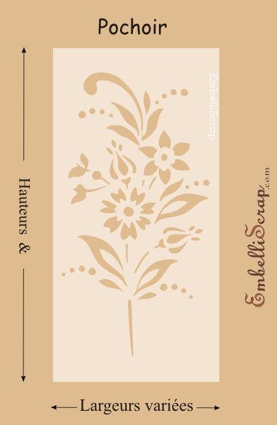 Bouquet de fleurs na ves de diff rentes tailles pochoir for Pochoir pour miroir