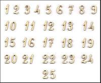 chiffres pour calendrier de l 39 avent de fonte marie en. Black Bedroom Furniture Sets. Home Design Ideas