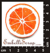Embellissement Scrap Orange, POC