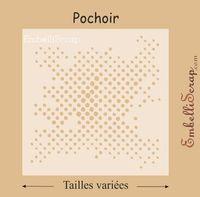 Petits Points De Différentes Tailles Pochoir Produit Scrapbooking