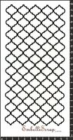 Embellissement Scrap Damier Arabesque Vertical, en Papier