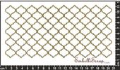 Embellissement Scrap Damier Arabesque Horizontal, en Papier