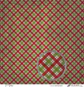 Embellissement Scrap Plaid, Coll. Noël Shabby