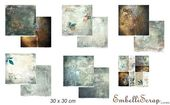 Embellissement Scrap Lot de 6 papiers 30 x 30 cm, Coll. Une pointe de rouille